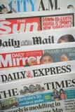 英国日报 免版税图库摄影
