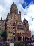 英国时代哥特式设计大厦在孟买 库存图片