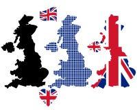 英国映射 免版税图库摄影