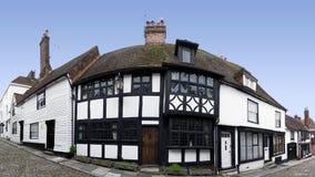 英国有历史的房子黑麦苏克塞斯 免版税库存图片