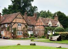 英国有历史的村庄 库存照片