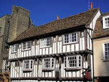 英国木屋中世纪老木材 免版税库存图片