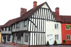 英国木屋lavenham木材 免版税库存照片