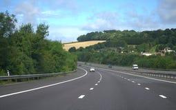英国机动车路 免版税库存图片
