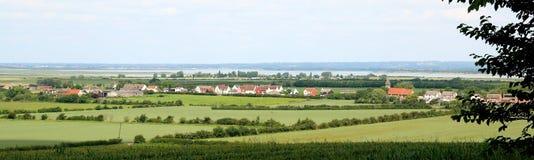 英国村庄尖顶艾塞克斯看法  免版税库存照片