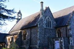 英国村庄教会 图库摄影