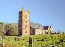 英国村庄教会 免版税库存照片