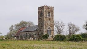 英国村庄教会 免版税图库摄影