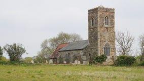 英国村庄教会 免版税库存图片
