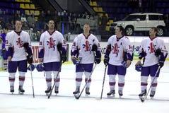 英国极大的曲棍球冰小组 免版税库存照片