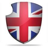 英国极大的盾 库存照片