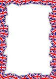 英国标志框架 皇族释放例证
