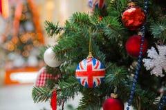 英国样式圣诞树 免版税库存图片