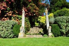 英国横向庭院 免版税库存照片