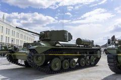 英国步兵坦克Mk III华伦泰在军用设备博物馆  图库摄影
