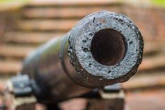 英国殖民地大炮 免版税库存图片