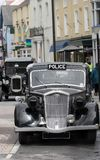 英国汽车警察葡萄酒 免版税库存照片