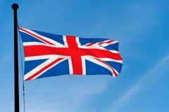 英国沙文主义情绪在蓝天 图库摄影