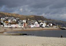 英国海边城镇 免版税图库摄影