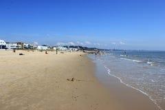 英国海滩前面海边 免版税图库摄影