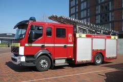 英国消防车 免版税库存照片