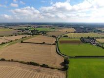 英国混杂的农田 库存图片