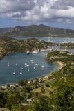 英国港口在安提瓜岛 库存照片