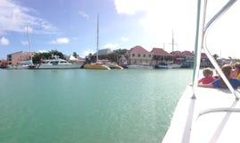 英国港口安提瓜岛 库存照片
