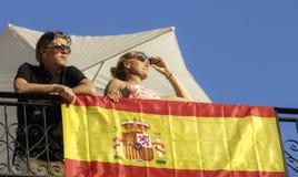 英国游人在阿利坎特西班牙 免版税库存图片