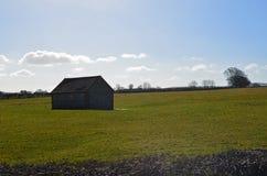 英国火石谷仓 库存照片