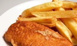 英国炸鱼膳食 库存图片
