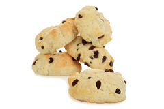 英国烤饼用葡萄干 免版税库存照片