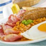 英国煮熟的早餐 库存照片