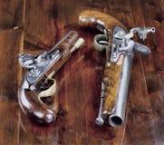 英国燧发枪手枪 库存照片