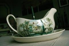 英国瓷茶碟 免版税库存图片
