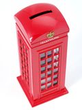 英国电话亭。 免版税库存照片