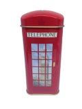 英国电话亭红色 免版税库存照片
