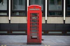 英国电话亭 免版税图库摄影