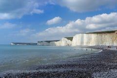英国白垩峭壁 库存图片