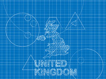 英国的图纸 库存照片