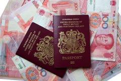 英国的护照 免版税库存照片