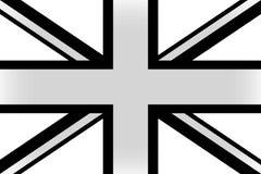英国的旗子黑白的 库存例证