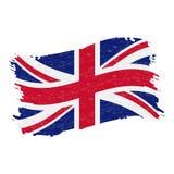 英国的旗子,难看的东西摘要在白色背景隔绝的刷子冲程 也corel凹道例证向量 皇族释放例证