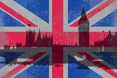 英国的旗子 向量例证