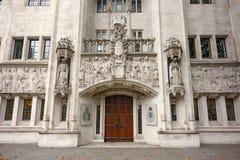 英国的最高法院 伦敦英国 免版税库存照片