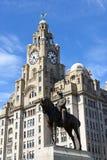 英国的爱德华七世国王雕象  免版税库存图片