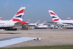 英国的空中航线 库存图片