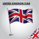 英国的英国旗子国旗杆的 皇族释放例证