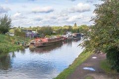 英国的运河 免版税库存图片