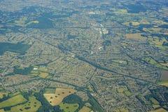 英国的鸟瞰图 免版税库存图片